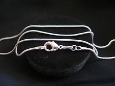 """Necklace 925 Sterling Silver """" SNAKE """" Chain 70cm x 1mm Lovely Gift Idea NEW"""