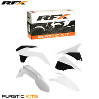 RFX Plastic Kit KTM All White EXC 250 300 2014 2015 2016 Inc Airbox Covers