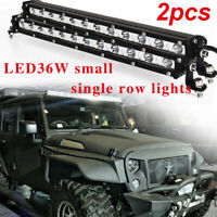 """2x 13"""" inch 36W LED WORK LIGHT BAR SINGLE ROW DRIVING LAMP FOR ATV SUV OFFROAD"""