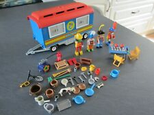 PLAYMOBIL RARE CIRCUS TRAILER with Clowns and accessories