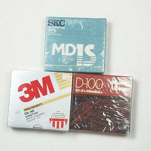 "3 Box Of 10 New 3M SKC Albinar 5 1/4"" Diskettes Minidisks DD HD"