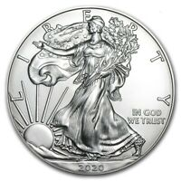 2020 American 1 oz Silver Eagle Coin 999 Fine Silver Brilliant Uncirculated