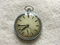 Vintage 10 Jewels Mechanical Wind Up Pocket Watch