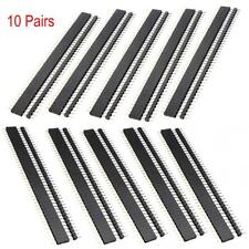 10 Pairs 40 pin 2.54MM Pitch Male/Female Header Socket Row Strip PCB Connector