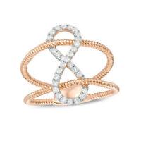 1/4cttw Diamond Infinity Split Shank Ring in 10K Rose Gold