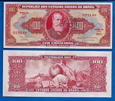 Brazil P-185a Ten Centavo/100 Cruzeiros Year ND 1966 Uncirculated