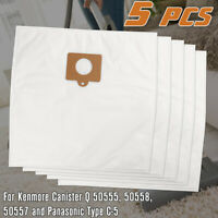 5pcs HEPA Cloth Vacuum Cleaner Bags Replacement for Kenmore Canister Vacuum Bags
