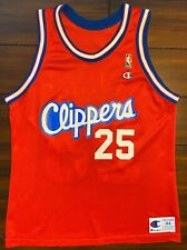 Rare Vintage Champion NBA Los Angeles Clippers Doc Rivers Basketball Jersey