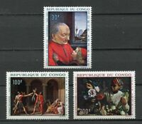 38070) Congo Rep.1968 MNH Paintings 3v