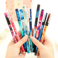 10Pcs/Box Cute Multi Colors Colorful Ink Gel Pen Set Pin Type Writing Supplies
