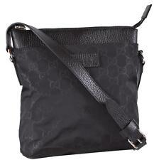 NEW Gucci 510339 Black Nylon MINI GG Guccissima Crossbody Messenger Bag