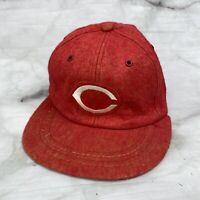 Vintage Cincinnati Reds MLB Baseball Hat Red Wool Large United Hatters Cap Union