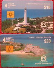 2 x Bermuda Nr. 2 + 4 - Chip Telefonkarte - gebraucht