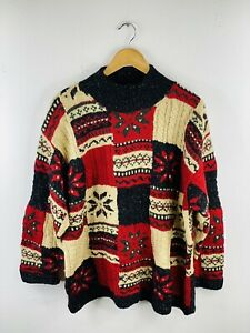 Jones New York Sport Men's Vintage Knit Pullover Sweater Jumper Size L Red