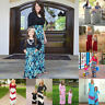 Mother Daughter Family Matching Long Maxi Dress For Women Baby Kid Girls Holiday