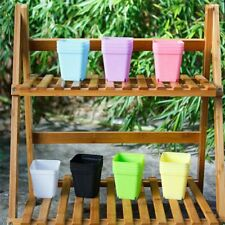 10X Mini Square Plastic Plant Flower Pot Garden Home Office Decor Planter---