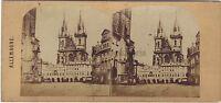 Praga Repubblica Ceca Germania Foto Stereo Vintage Ca 1860