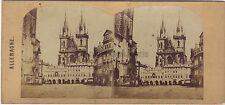 Prague République tchèque Allemagne Photo Stéréo Vintage ca 1860