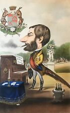 Antoine Bisetsky caricature du Comte de Berteux (1817-1892)   Rare 1866