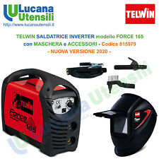 TELWIN SALDATRICE INVERTER mod FORCE 165 MASCHERA TIGER ACCESSORI SALDATURA NEW