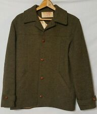 Vintage C.C. Filson 100% Wool Green - Brown Jacket Mens size 44R