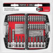 PORTER-CABLE 34-Piece Impact Driver Bit Set Magnetic Drive Multi-piece Durable