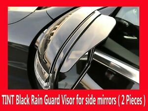 2x Black Universal Side Mirror Rain Guard Sun Visor Shade Shield (FIAT09-17)