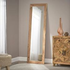 Celenia Rustic Floor Mirror with Acacia Wood Frame