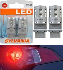 Sylvania Premium LED Light 3156 Red Two Bulbs Rear Turn Signal Replacement Lamp