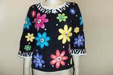 DESIGN OPTIONS Flower Sequin Embellished Philip Jane Gordon Theme Sweater S