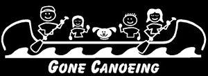 Canoe Family Stick Figure Decal Sticker Custom Made