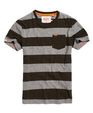 New Mens Superdry Orange Label Stripe Pocket T-Shirt Surplus Gds Olve