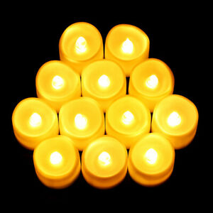 24*Flameless LED Candles Tea Lights 100 Hour Flickering Battery Operated Wedding