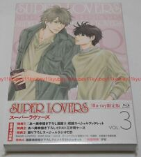 SUPER LOVERS Vol.3 First Limited Edition Blu-ray Radio CD Manga Booklet Japan