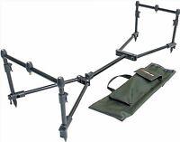 Leeda Rogue Easy Assembled Carp 3 Rod Pod Pack + Carry Case Coarse Fishing