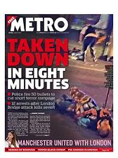 Metro Newspaper - 5 June 2017, London Bridge Attack