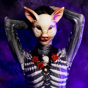 Pig Head Mask Masquerade Cosplay Absurd Halloween EVA Mask