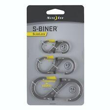 Nite Ize Slidelock Carabiner Combo Pack Sizes #2,#3,#4 Stainless LSBC-11-R6 NEW