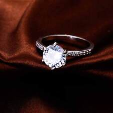 Nearly 3ct. Diamond Solitaire in Pave Setting White TItanium  #2-15 engagement
