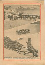 Avion Touristes Saint-Moritz Alpes Randonnées/Bobsleigh Vosges 1930 ILLUSTRATION