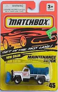 Matchbox Modellino Metallo Autostrada Maintenane Camion #45  1990 Molto Raro