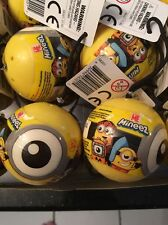 4x DESPICABLE ME 3 mineez minions blind Ball mystery figures Lot Of 4 Balls