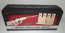 Wooden Rubber Band Shooter W/ Target Gift Set