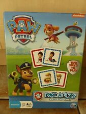 PAW PATROL LOOK A LIKES MATCHING FAMILY CARD GAME - 2 WAYS TO PLAY