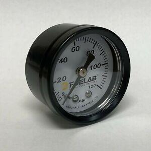 """Fuel Lab 1.5"""" Direct Mount, Non Filled, 0-120 PSI Fuel Pressure Gauge FL00120D"""