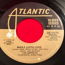"LED ZEPPELIN Whole Lotta Love 1975 USA 7"" vinyl single EXCELLENT CONDITION A"