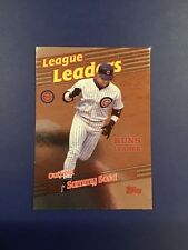 1999 Topps # 229 SAMMY SOSA Chicago Cubs League Leaders RBI's Great Card Look !