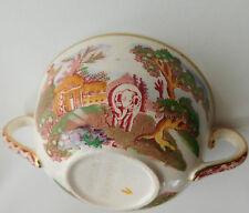 Vintage 1940s soup bowl 2-handled Midwinter oriental design pagoda elephant