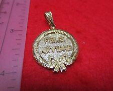 LOT OF 5 PIECES OF 14KT GOLD EP FELIZ NAVIDAD 3D CHARM PENDANT  HOLIDAY SPECIAL