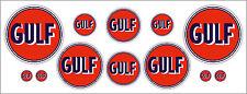 Gulf années 1950 logo 12 pièces autocollant set-official licensed golfe decals
